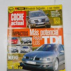Coches: REVISTA COCHE ACTUAL Nº 795. DEL 10 AL 16 JULIO 2003. SEAT LEON TDI 130 CV. TDKR52. Lote 117360115
