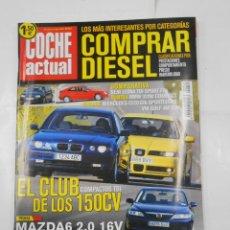 Coches: REVISTA COCHE ACTUAL Nº 741. 27 JUNIO AL 3 JULIO 2002. EL CLUB COMPACTOS TDI DE LOS 150 CV. TDKR52. Lote 117360523