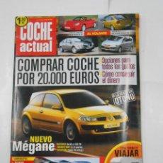 Coches: REVISTA COCHE ACTUAL Nº 742. DEL 4 AL 10 JULIO 2002. NUEVO MEGANE. BMW 735I. LEXUS LS430. TDKR52. Lote 117360579