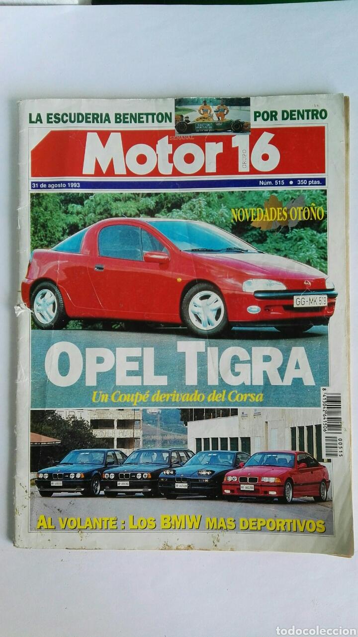 MOTOR 16 AGOSTO 1993 (Coches y Motocicletas Antiguas y Clásicas - Revistas de Coches)
