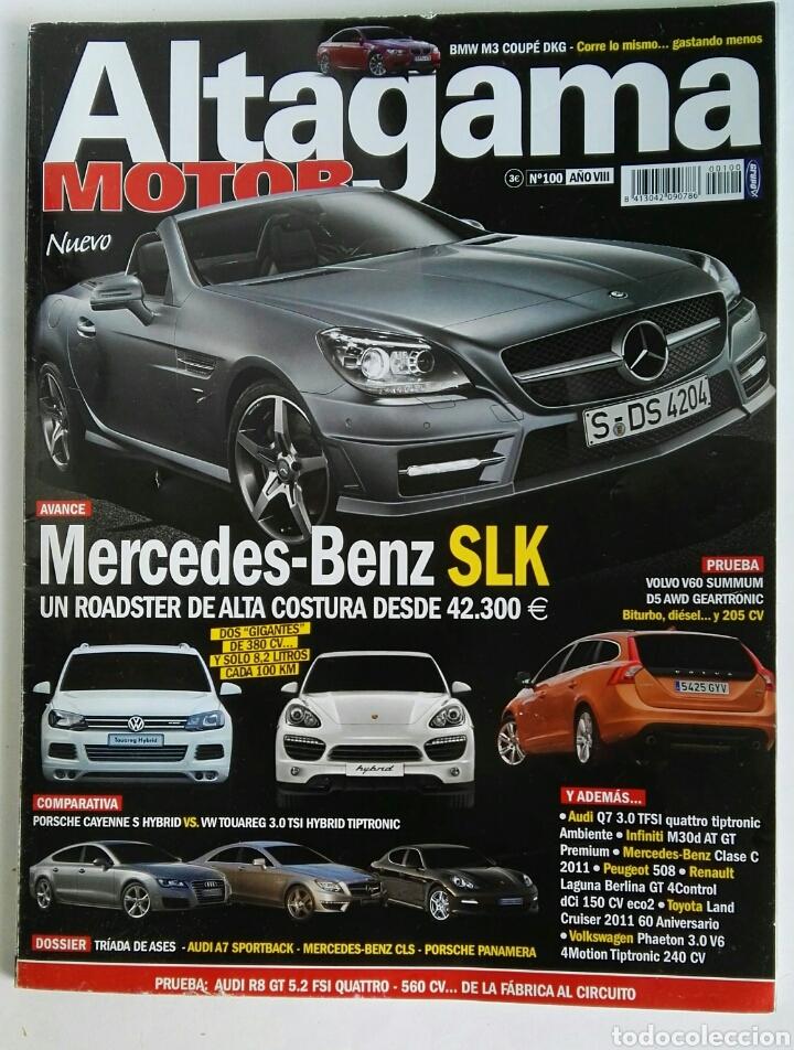 REVISTA ALTAGAMA MOTOR N° 100 MERCEDES SLK (Coches y Motocicletas Antiguas y Clásicas - Revistas de Coches)