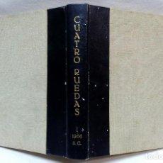 Coches: REVISTA CUATRORUEDAS, AÑO 1966. PRIMER SEMESTRE. 6 REVISTAS MAS VOLUMEN ESPECIAL SEAT 850. Lote 118151543