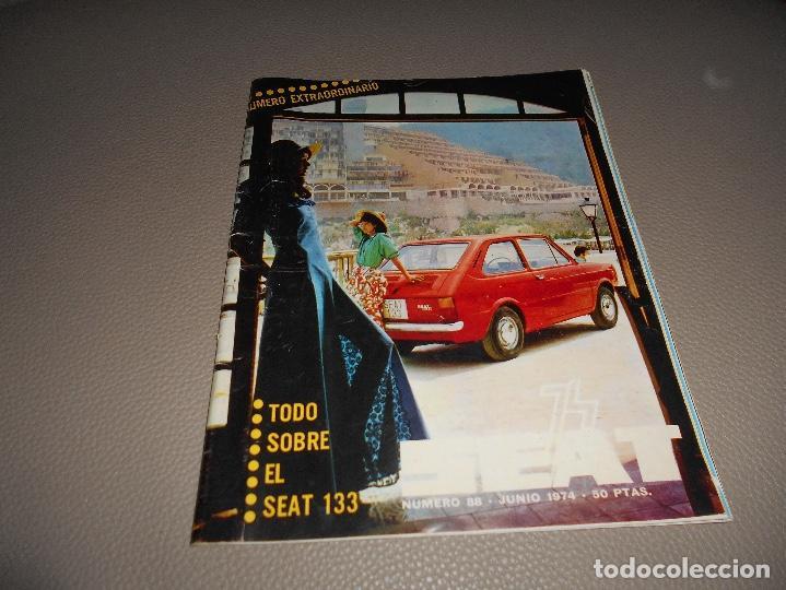 REVISTA SEAT Nº 88 JUNIO 1974 SEAT 133 CON CARTEL MUY RARA (Coches y Motocicletas Antiguas y Clásicas - Revistas de Coches)