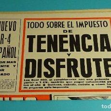 Coches: AUTO REVISTA SEMANARIO DEL MOTOR. NUEVO R-4 ESPAÑOL. CIRCUITO DEL JARAMA. Nº 555. ENERO 1968. Lote 118584799