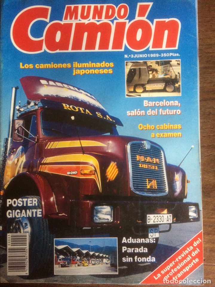 REVISTA MUNDO CAMIÓN NÚMERO 3 DE 1989 PEGASO (Coches y Motocicletas Antiguas y Clásicas - Revistas de Coches)