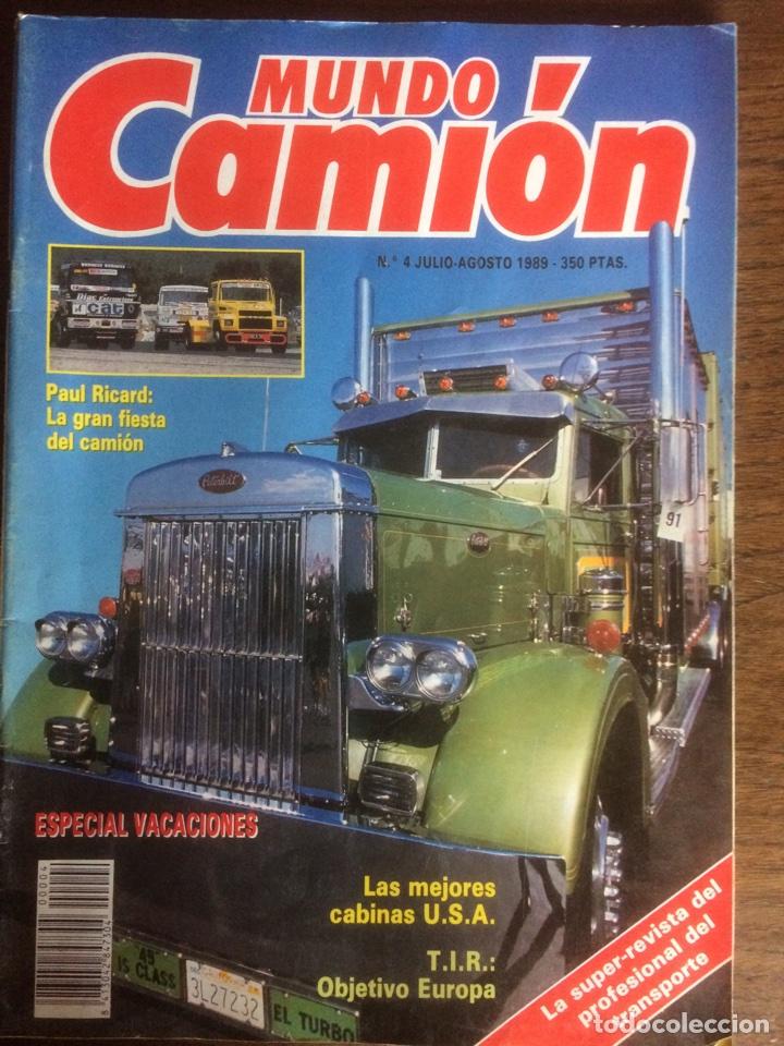 REVISTA MUNDO CAMIÓN NÚMERO 4 DE 1989 (Coches y Motocicletas Antiguas y Clásicas - Revistas de Coches)
