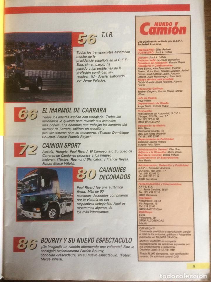 Coches: Revista mundo camión número 4 de 1989 - Foto 3 - 137299908