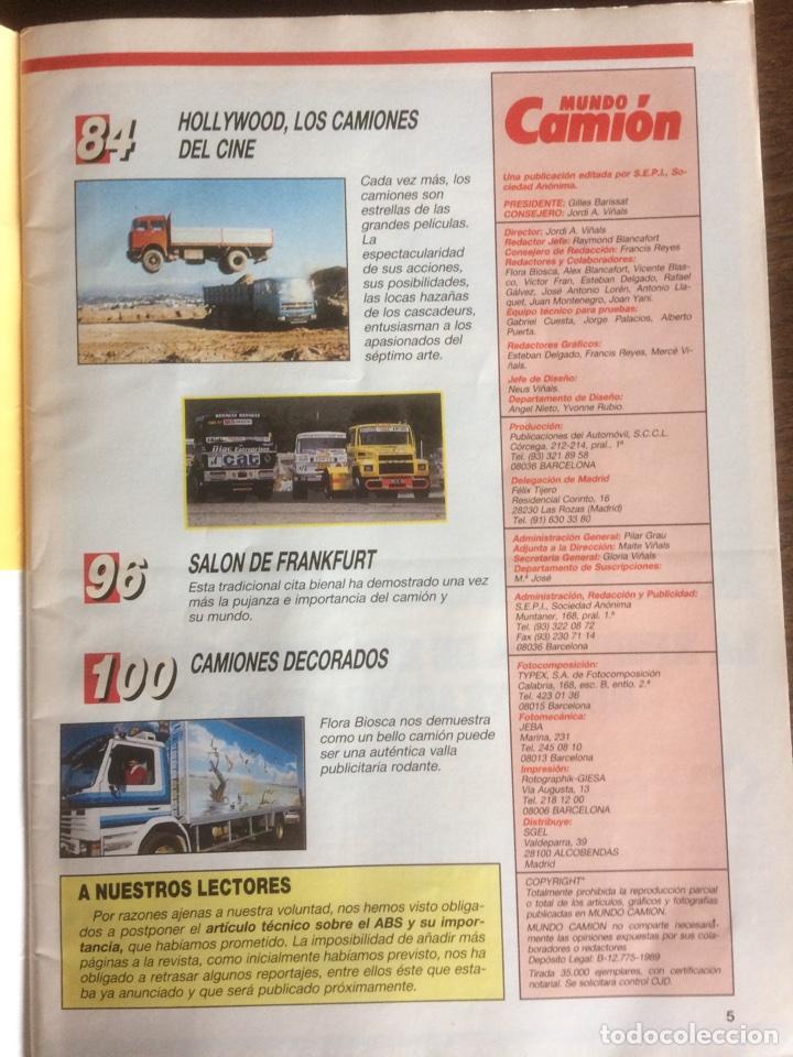 Coches: Revista Mundo camión número 6 de 1989 - Foto 3 - 118995360