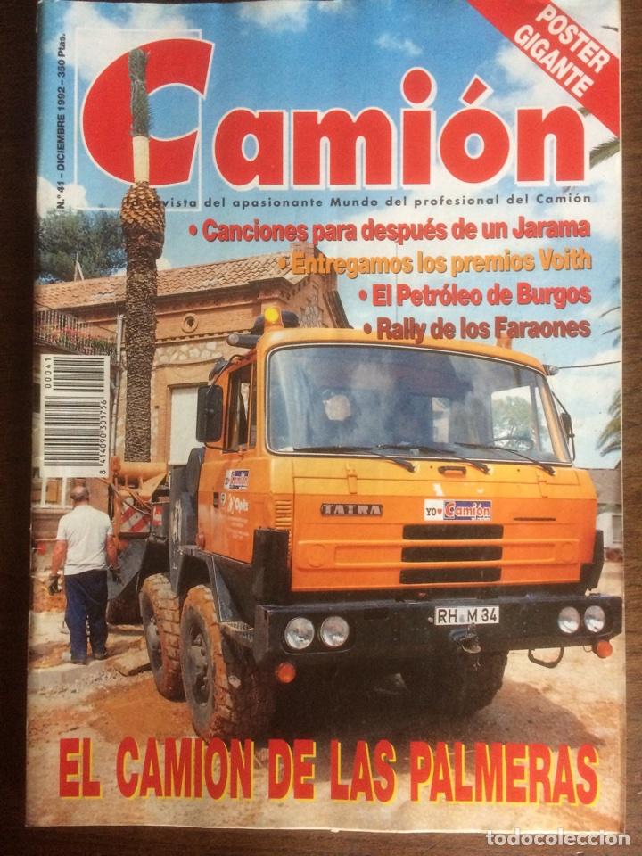 REVISTA CAMION NÚMERO 41 DE 1992 PEGASO TATRA (Coches y Motocicletas Antiguas y Clásicas - Revistas de Coches)