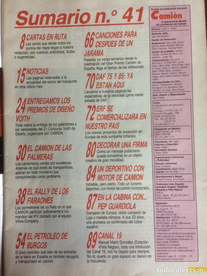 Coches: Revista camion número 41 de 1992 pegaso tatra - Foto 2 - 127974162