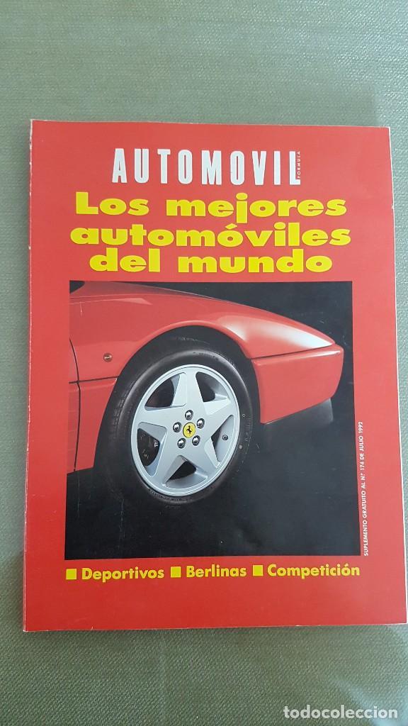 AUTOMÓVIL: LOS MEJORES AUTOMÓVILES DEL MUNDO (1.992) (Coches y Motocicletas Antiguas y Clásicas - Revistas de Coches)