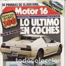 Coches: REVISTA MOTOR 16 Nº 100 AÑO 1985. GAMA: RENAULT 5 TL, RENAULT 5 GTL Y RENAULT 5 GTS. PRU: BIMOTA* 32. Lote 119371323