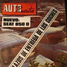 Coches: REVISTA AUTOREVISTA 797 NUEVO SEAT 850 D - ALCAÑIZ COPA RENAULT 8 TS - CITROEN GS - FURGON SAVA J4 N. Lote 119893391