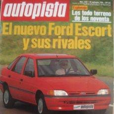 Coches: REVISTA AUTOPISTA 1627 FORD ESCORT - ALFA SPIDER - BMW Z1 - MAZDA MX5 - MERCEDES 190E - . Lote 120042479