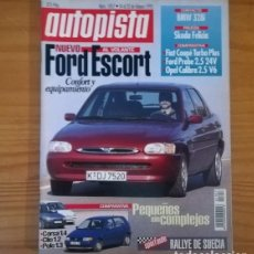 Coches: AUTOPISTA 1857, 14 FEBRERO 1995. FORD ESCORT, BMW 328I, SKODA FELICIA, FIAT COUPE TURBO PLUS.... Lote 120087555