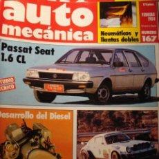 Carros: REVISTA AUTOMECANICA 167 VW PASSAT - RENAULT 11 - PORSCHE 930 T -. Lote 233451855