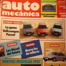 Carros: REVISTA AUTOMECANICA 199 VW PASSAT GAMA - AUDI 80 - PORSCHE 928 S4 - CITROEN AX - SUZUKI SJ 410 -. Lote 120812803