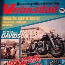 Coches: REVISTA VELOCIDAD 658 HARLEY DAVIDSON 1200 - PRUEBA SIMCA 900 SPECIAL - HISTORIA MOTO HERCULES. Lote 121077235