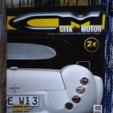 Coches: REVISTA CITA DEL MOTOR NUMERO 1 AÑO 2005 WIESMANN CADILLAC CTS BMW M5 HUMMER H2. Lote 121079090