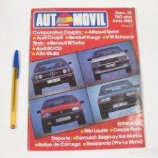 Coches: REVISTA FORMULA AUTOMOVIL NÚMERO 53 DE JUNIO DE 1982. Lote 121129235