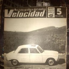 Coches: VELOCIDAD Nº 316 (30-09-1967) PEUGEOT 204, FORD CORTINA, PONTIAC, OSSA 230. Lote 121178559