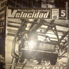 Coches: VELOCIDAD Nº 338 (02-03-1968) SEAT 124, RALLYE DE COCHES ANTIGUOS, NORTON 750 ATLAS, RENAULT ALPINE. Lote 121179243