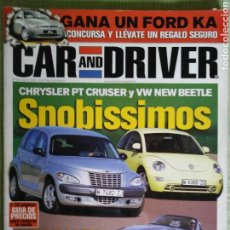 Coches: CAR AND DRIVER 58 JULIO 2000. Lote 121312434