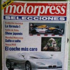 Coches: MOTORPRESS 20 DICIEMBRE 1991. Lote 121322519