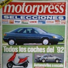 Coches: MOTORPRESS 10 FEBRERO 1991. Lote 121324482