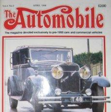 Coches: REVISTA THE AUTOMOBILE. DEDICADA A COCHES PRE-1950. NÚMERO DE ABRIL DE 1988.. Lote 121545507