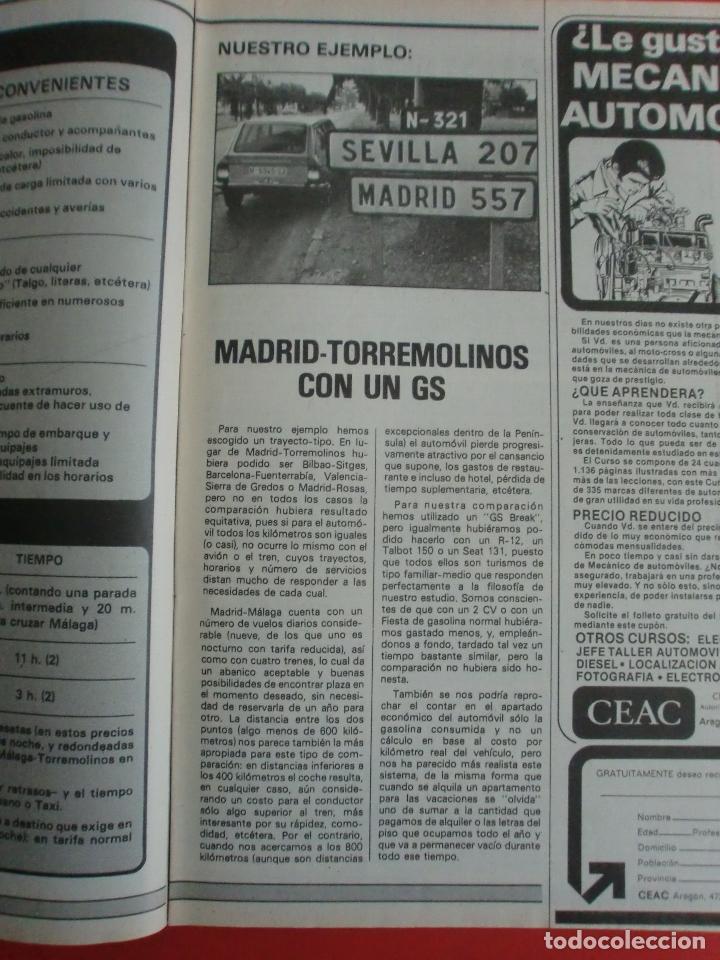 Coches: VELOCIDAD Nº 935 PRUEBA RENAULT 14 TS - MADRID TORREMOLINOS CON UN CITROËN GS - 1.000.000 DE LADA - Foto 5 - 122246555