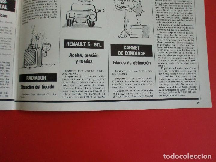 Coches: VELOCIDAD Nº 935 PRUEBA RENAULT 14 TS - MADRID TORREMOLINOS CON UN CITROËN GS - 1.000.000 DE LADA - Foto 13 - 122246555