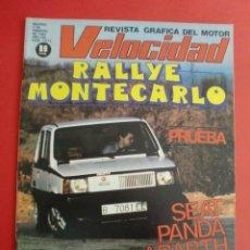 Auto: VELOCIDAD Nº 1013 RALLYE MONTECARLO - PRUEBA SEAT PANDA ABARTH - I TROFEO PALAU SCALEXTRIC. Lote 122449703
