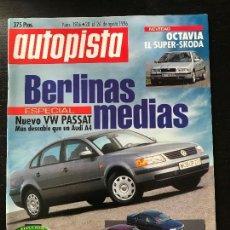 Coches: AUTOPISTA Nº 1936 - AGOSTO 1996 - AUDI A4 1.8 / BMW 318I / VOLVO S40 / VW PASSAT. Lote 123355243