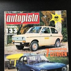 Coches: AUTOPISTA Nº 927 - NOV 1976 - SEAT 133 - TOUR CORCEGA - VILLOTA - SEAT 124 1800 RALLYE . Lote 123364595