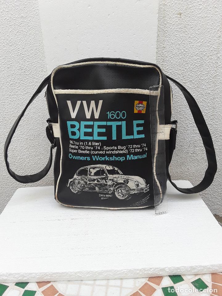 Coches: VW BEEETLE 1600 HAYNES-BONITO BOLSO BANDOLERA-36x27x8,5cm -PARA TU ESCARABAJO-VOCHO-VINTAGE - Foto 2 - 123420715