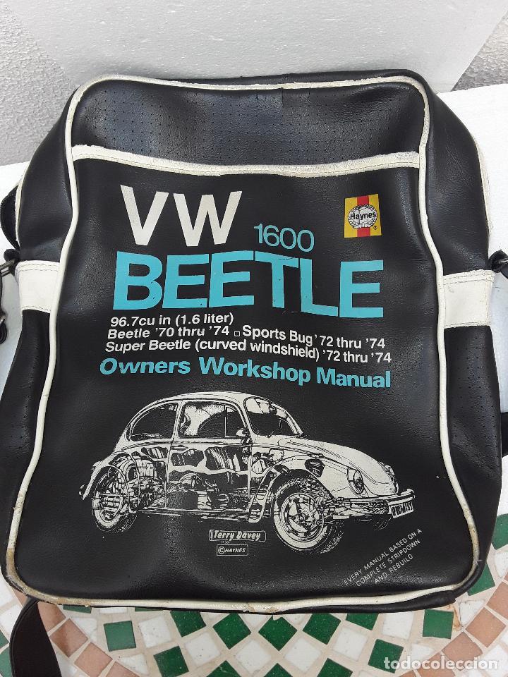 Coches: VW BEEETLE 1600 HAYNES-BONITO BOLSO BANDOLERA-36x27x8,5cm -PARA TU ESCARABAJO-VOCHO-VINTAGE - Foto 6 - 123420715