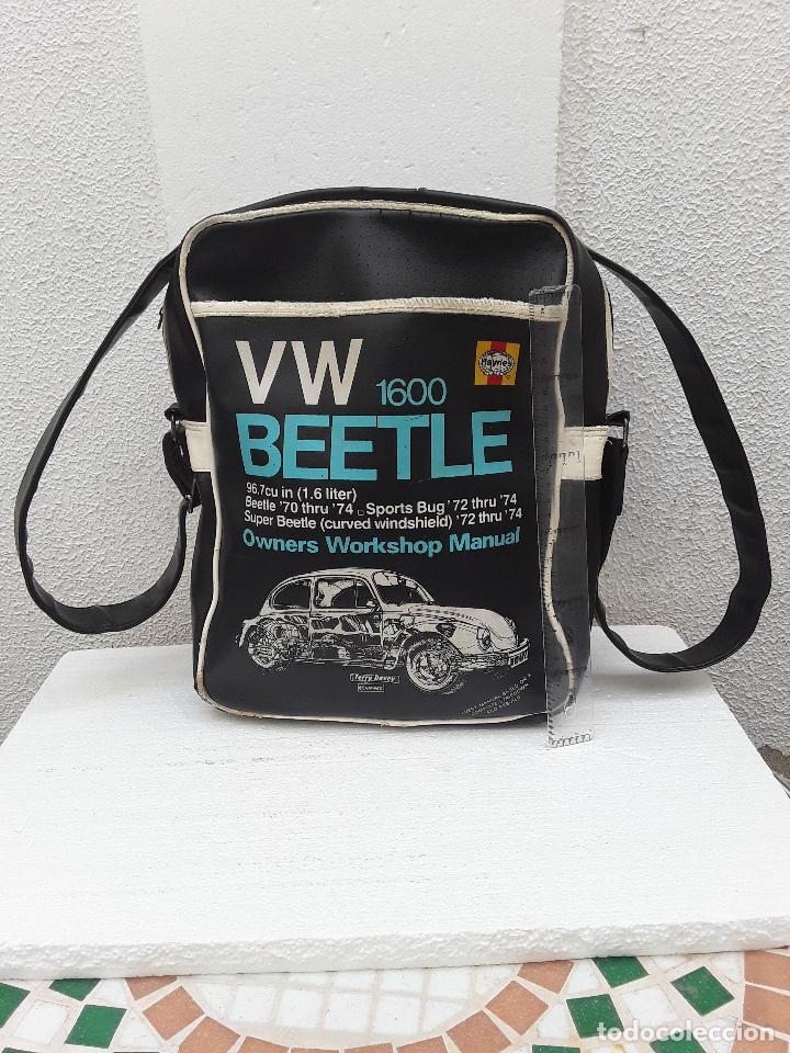 Coches: VW BEEETLE 1600 HAYNES-BONITO BOLSO BANDOLERA-36x27x8,5cm -PARA TU ESCARABAJO-VOCHO-VINTAGE - Foto 8 - 123420715