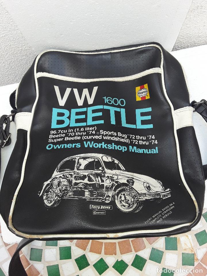 Coches: VW BEEETLE 1600 HAYNES-BONITO BOLSO BANDOLERA-36x27x8,5cm -PARA TU ESCARABAJO-VOCHO-VINTAGE - Foto 10 - 123420715