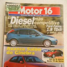 Coches: MOTOR 16 Nº 804 MARZO AÑO 1999.. Lote 123874971