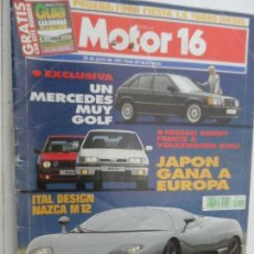 Coches: MOTOR 16 Nº 401 JUNIO 1991.. Lote 124561959
