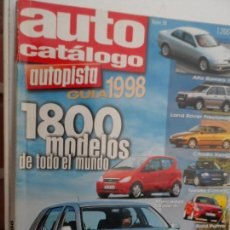 Coches: AUTO CATALOGO AUTOPISTA GUIA 1998 Nº 18. Lote 176667070