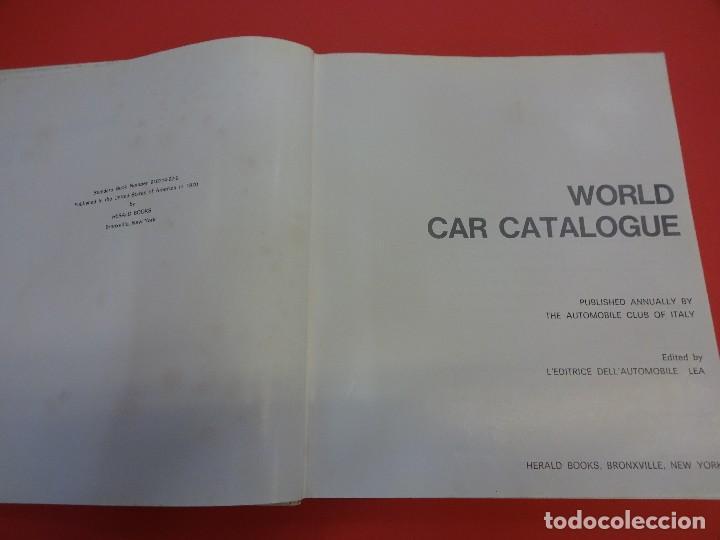 Coches: WORLD CAR CATALOGUE 1970. Automobile club of Italy. Muy raro. Imprescindible. - Foto 2 - 125071539