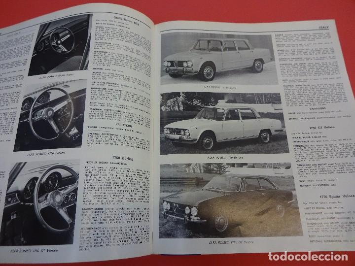 Coches: WORLD CAR CATALOGUE 1970. Automobile club of Italy. Muy raro. Imprescindible. - Foto 6 - 125071539