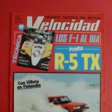 Coches: VELOCIDAD Nº 1068 27/02/1982 R-5 TX - VILLOTA CONDUCCION SOBRE HIELO - NUEVOS SEAT PANDA . Lote 125214647
