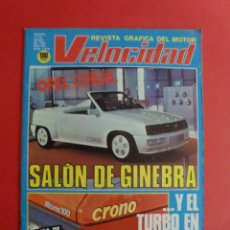 Coches: VELOCIDAD Nº 1070 13/03/1982 RITMO 100 CRONO - AUSTIN AMBASSADOR - RALLYE VASCO NAVARRO. Lote 125215603