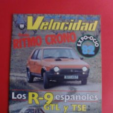 Coches: VELOCIDAD Nº 1072 27/03/1982 RITMO 100 CRONO - R-9 GTL Y TSE - FERRARI 750 MONZA - PIQUET. Lote 125216107