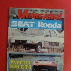 Coches: VELOCIDAD Nº 1073 03/04/1982 SEAT RONDA - FERRARI 308 GTS - RENAULT 9 - RALLYE NORTE SUR - NIETO . Lote 125216655