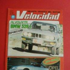 Coches: VELOCIDAD Nº 1050 24/10/1981 BMW 528 I - TALBOT TAGORA PRESIDENCE - G P LAS VEGAS F 1. Lote 125219331