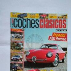 Coches: REVISTA COCHES CLASICOS Nº 125 ALFA ROMEO GIULIA CARABO 164 CARABINIERI 155 SZ SEAT 132 DIPLOMATIC. Lote 125342599